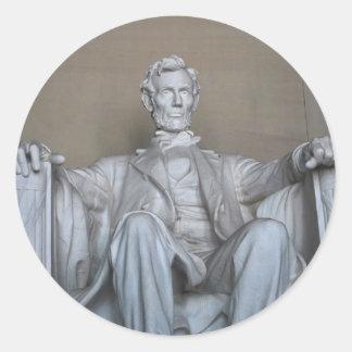 Abraham Lincoln statue Classic Round Sticker