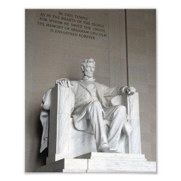 USA Themed Abraham Lincoln Statue Lincoln Memorial Washington Photo Print