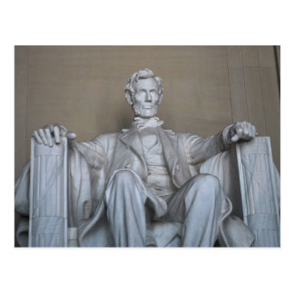 Abraham Lincoln statue Post Card