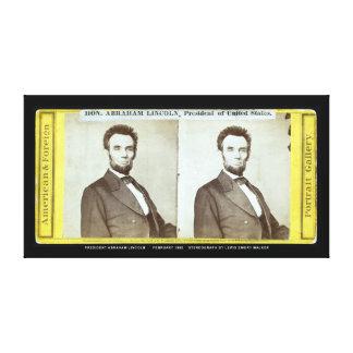 Abraham Lincoln Stereograph Feb 1865 Canvas Print