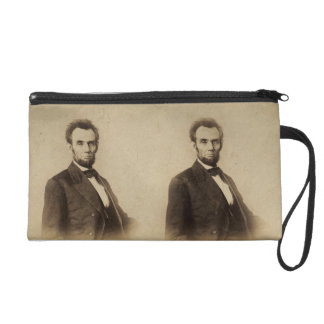 Abraham Lincoln Stereoview Card Wristlet