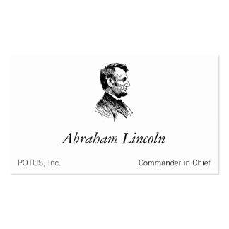 Abraham Lincoln Tarjeta Personal