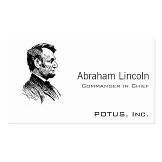 Abraham Lincoln Tarjetas De Visita