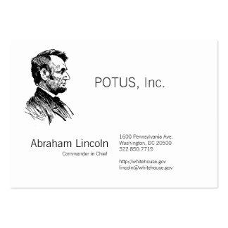 Abraham Lincoln Tarjetas De Visita Grandes