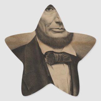 Abraham Lincoln. The martyr President, Assassinate Star Sticker