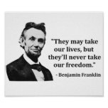 Abraham Lincoln Troll Quote Poster