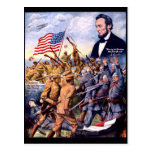 Abraham Lincoln True Sons Of Freedom Postcard