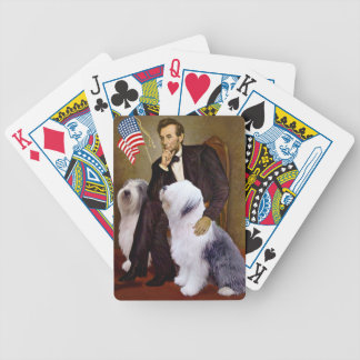 Abraham Lincoln - Two Old English Sheepdogs Bicycle Playing Cards