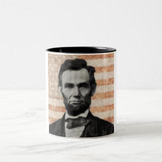 Abraham Lincoln Two-Tone Coffee Mug