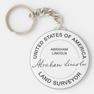 Abraham Lincoln US Land Surveyor Seal Keychain
