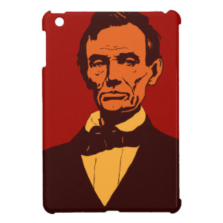 Abraham Lincoln vector art detail red Cover For The iPad Mini