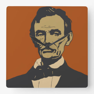 Abraham Lincoln vector art detail Square Wall Clock