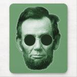 Abraham Lincoln - verde Alfombrilla De Raton