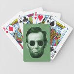 Abraham Lincoln - verde Barajas De Cartas