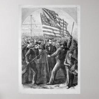 Abraham Lincoln Vintage Artwork print