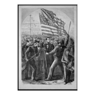 Abraham Lincoln Vintage Artwork -- With Border print