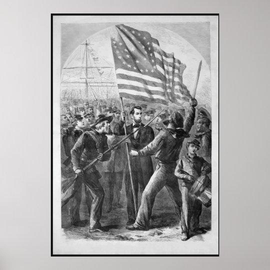 Abraham Lincoln Vintage Artwork -- With Border Poster