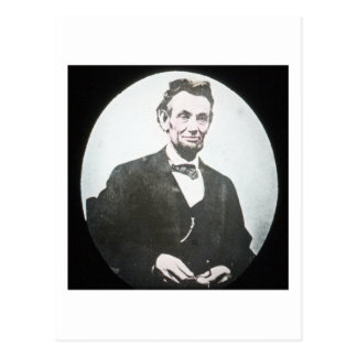 Abraham Lincoln Vintage Magic Lantern Slide Postcard
