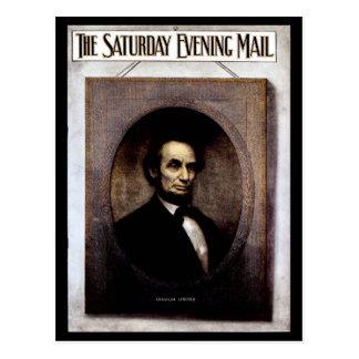 Abraham Lincoln vintage photo magazine cover Postcard