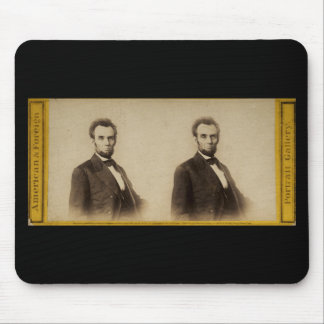 Abraham Lincoln Vintage Stereoview Mouse Pad