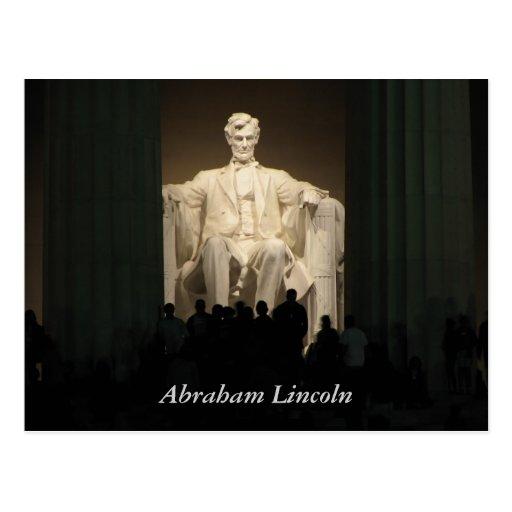 Abraham Lincoln, Washington DC Tarjeta Postal