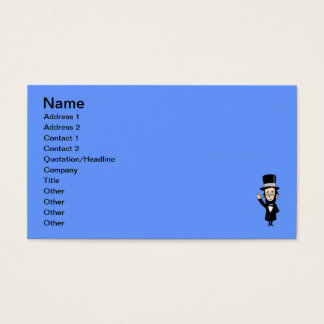 Abraham Lincoln Waving in Front of Faded Old Glory Business Card