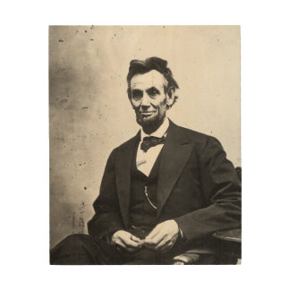 Abraham Lincoln Impresiones En Madera