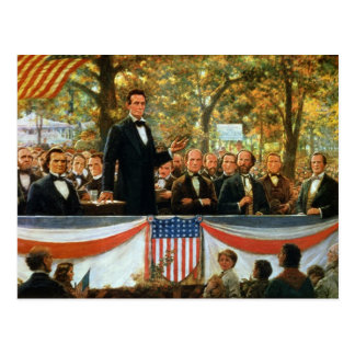 Abraham Lincoln y Stephen A Douglas Tarjeta Postal