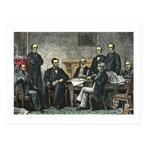 Abraham Lincoln y su gabinete Postal