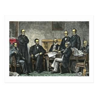 Abraham Lincoln y su gabinete Tarjetas Postales