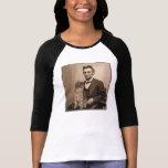 "Abraham Lincoln y su gato ""Dixie "" Poleras"