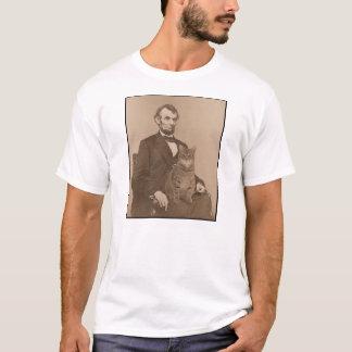 """Abraham Lincoln y su gato """"Gloria"""" 2 Playera"""
