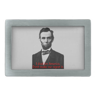 Abraham Lincoln's American Pride Rectangular Belt Buckles