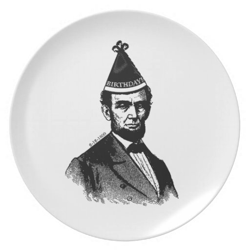 Abraham Lincoln's Birthday Bash Plate