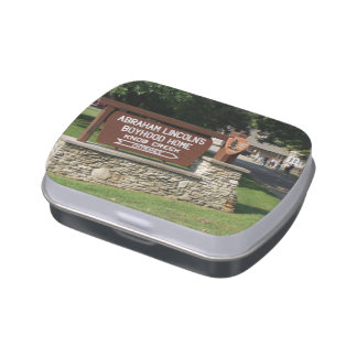 Abraham Lincoln's Boyhood Home Jelly Belly Candy Tin