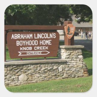 Abraham Lincoln's Boyhood Home Square Sticker