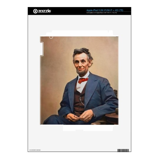 Abraham Lincolon Decals For iPad 3