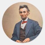 Abraham Lincolon Pegatina Redonda