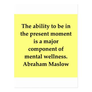 abraham maslow quote postcard