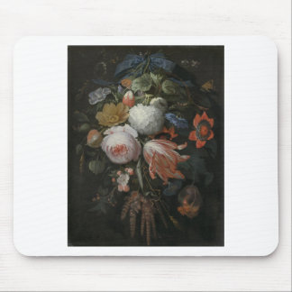 Abraham Mignon A Hanging Bouquet of Flowers probab Mouse Pad