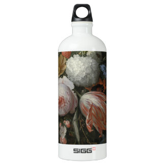 Abraham Mignon A Hanging Bouquet of Flowers probab Water Bottle