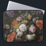"Abraham Mignon - Still Life With Flowers And A Wat Laptop Sleeve<br><div class=""desc"">Abraham Mignon - Still Life With Flowers And A Watch. Vintage famous fine art. Cute retro design gift. Best oil painting. High original quality.</div>"
