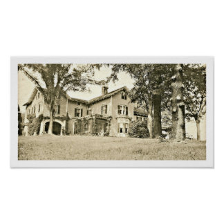 Abraham Oakey Hall's Summer Home at Short Hills NJ Poster