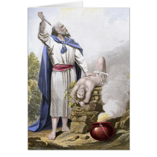 Abraham offering up Isaac Card