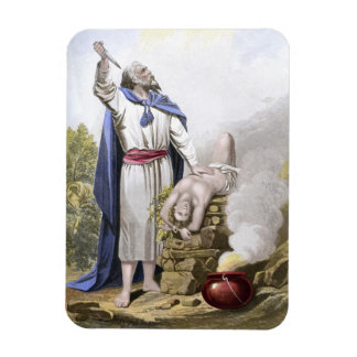 Abraham offering up Isaac Magnet