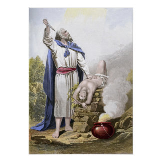 Abraham offering up Isaac Poster