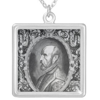 Abraham Ortelius Silver Plated Necklace