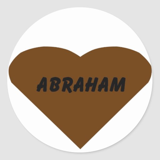 Abraham Pegatina Redonda