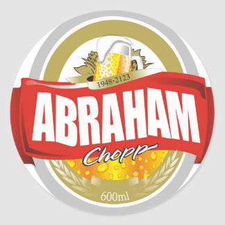 Abraham.png Pegatina Redonda
