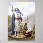 Abraham que ofrece encima de Isaac Posters